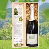 Schaumwein aus der Champagner-Bratbirne, halbtrocken, 0,75l - Holzkiste