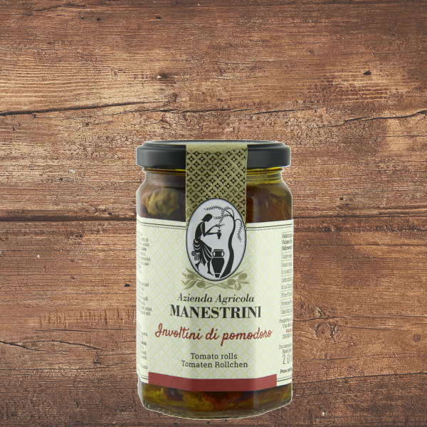 Involtini di pomodoro (gefüllte Tomatenröllchen)